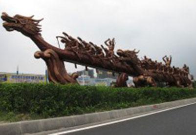 广州番禺沙湾区迎亚运雕塑