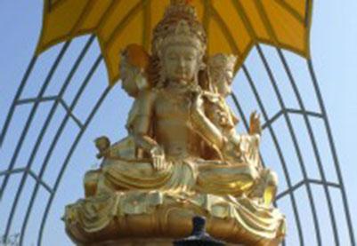 宗教雕塑:深圳大华新寺-观音座莲