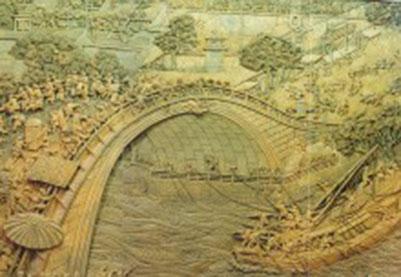 北京朝阳区浮雕-清明上河图