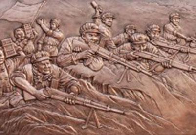 革命历史题材浮雕(铜雕)